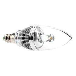 W E14 3 Lm 210-240 3000-3500 - K Warm White Led Candle Bulb (85-265 - V)