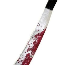 Jason Voorhees Costume Machete *** Product Description: Plastic Machete With Realistic Blood Splatter. Great Accessory For Any Horror Costume. ***
