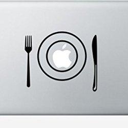 Macbook Fork Plate Knife Decal Sticker Pro Air 11 13 15 17