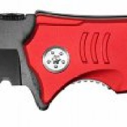 """3.5"""" Rex """"Fire Fighter"""" Spring Assisted Rescue Super Knife - Red"""