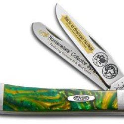 Case Cutlery Cat-Buf/Ce Case'S Buffalo Nickel Corelon Handel Trapper Pocket Knife With Tru Sharp Surgical Steel Blades, Cats Eye Corelon