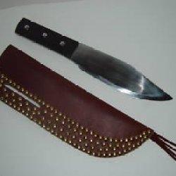 "Custom Leather Sheath For 14"" Throwing Knife"