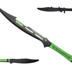 "27"" Apocalyptic Zombie Killer Sword Ninja Full Tang Survival Green Sword Machete"