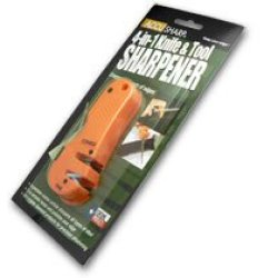 Accusharp Orange Handle Tungsten Carbide 4-In1 Knife And Tool Sharpener