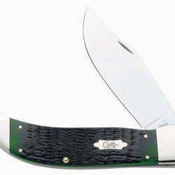 Case Xx Vintage Pattern Hunter Green Clasp Knife 8551