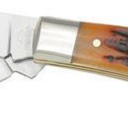 "Queen Qn40Acsb Knives Folder Knife Gunstock 3 5/8"" Closed D2 Tool Steel Clip & P"