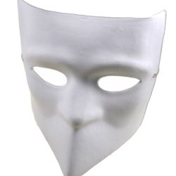 Redskytrader Mens Plain Paper Mache Bauta Craft Mask One Size Fits Most White