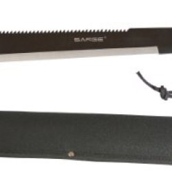 Sarge Knives Sk-950 Jungle Expedition Machete Full Tang Blade With Saw Tooth Back Design