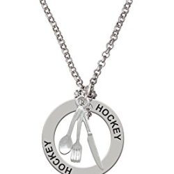 Fork Knife And Spoon - Hockey Affirmation Necklace