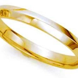 High-Polished Knife Edge Wedding Band In 14K Yellow Gold (3Mm)