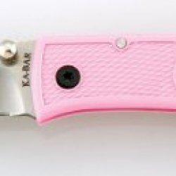 Ka-Bar Mini Dozier Folding Hunter Knife - Pink