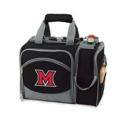 Miami (Ohio) Redhawks Malibu Insulated Picnic Shoulder Pack/Bag - Burgundy W/Embroidery