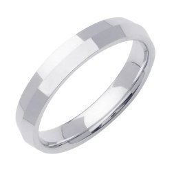 High-Polished Knife Edge Wedding Band In Platinum (3Mm)