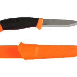 Morakniv Companion Fixed Blade Outdoor Knife With Sandvik Stainless Steel Blade, Orange, 4.1-Inch