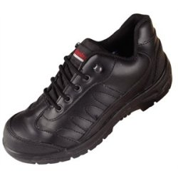 Slipbuster Safety Trainer Size 43. Uk Size 9. Durable Leather Uppers With Oil And Slip-Resistant Sole.