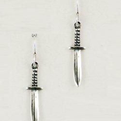 A Little Dagger In Sterling Silver Earrings, Made In America