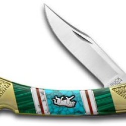 Buck 110 Yellowhorse 1/25 Folding Hunter Wolf Wildlife Series Pocket Knife Knives
