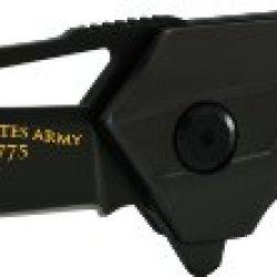 U.S. Army Army3B Linerlock Knife With Tanto Blade, Black
