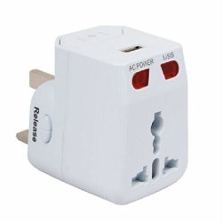 Multifunction Power Converters 2.1A Usba Global Universal Usb Power Adapter Plug Socket Kingdom United States Europe Japan Korea, The Supplied Usb Charging Jack, Android Phones, Iphone, Piod, Pda, Mp3, Bluetooth, Navigation Systems, Digital Cameras, Digit