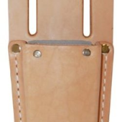 Bucket Boss 55068 Top Grain Leather Knife Sheath Fiber Lined