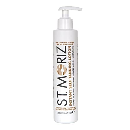 St Moriz Instant Self Tanning Lotion comes in a pump action bottle, for a healthy golden tan all year round.