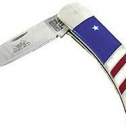 Santa Fe Stoneworks Patriotic 3-Inch Lockback Pocket Knife