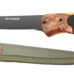 Sarge Knives Sk-133 Hi-Vis Camo Fixed Blade Fillet Knife With 6-1/2-Inch Stainless Orange Camo Handle