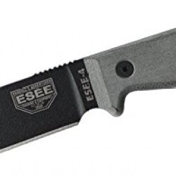 Esee Knives 4P-Cp Sharpened Clip Point Black Blade W/ Coyote Tan Sheath