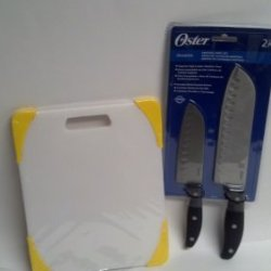 Oster Knife Set And Farberware Cutting Board