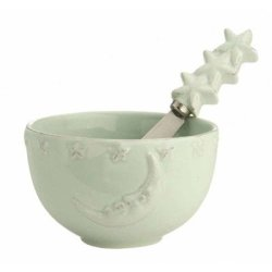 October Hill Ceramic Bowl, Moon And Stars