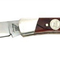 Frost Cutlery & Knives 14549Awg Little Warrior Lockback Knife With Autumn Worm Grooved Bone Handles