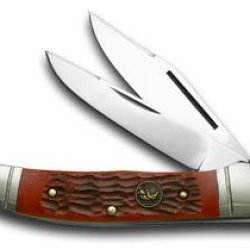 Hen & Rooster And Red Pickbone Copperhead Pocket Knife Knives