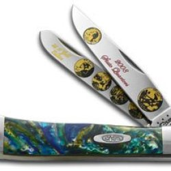 Case Xx 2008 State Quarter Gold Series Trapper 1/3000 Stainless Pocket Knife Set