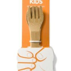 Bambu 5-1/2-Inch Kids Utensils, Natural