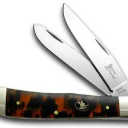 Steel Warrior Imitation Tortoise Shell Trapper Pocket Knife Knives