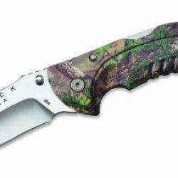 Buck Knives 0398Cmg20 Folding Omni Hunter Knife, 12 Pt, Guthook, Realtree Xtra Green Camo