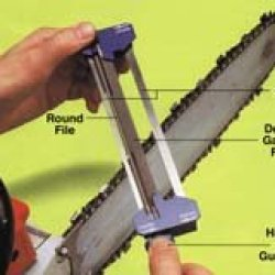 Chain-Sharp Dual Sharpening Tool 8In X 5/32In For 3/8In Low Profile Chain