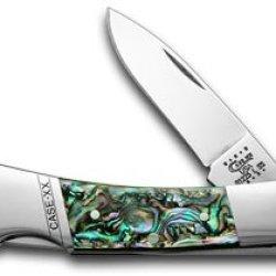 Case Xx Genuine Abalone Lockback Pocket Knife Knives