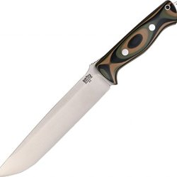 Bark River Bravo 2 Fixed Blade Knife,7In,A-2 Tool Steel Blade,Mil-Spec Camo Handle 07-211G-Msc