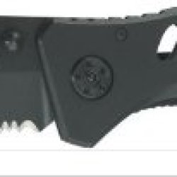 Smith & Wesson Ck10Hbs Extreme Ops Serrated Liner Lock Tanto Knife, Black