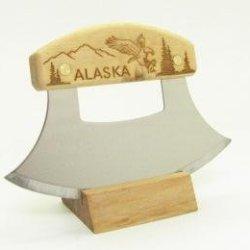 Inupiat Birch Alaska Cutlery Ulu Knife Eagle Flight Mountains