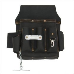 Style N Craft 70-603 10 Pocket Heavy Duty Oiled Top Grain Leather Electrician'S / Contractor'S Tool Pouch