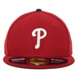 Philadelphia Phillies Mlb Authentic Baseball Cap 7-3/8 Osfa - Like New