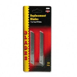 New - Quickpoint Snap-Off Straight Handle Retractable Knife Replacement Blade, 10/Pack - 91473