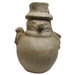 Paper Mache Fat Snowman Kraft By Craft Pedlars