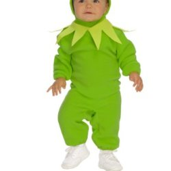 The Muppets Romper And Headpiece Kermit The Frog, Kermit Print, 6-12 Months