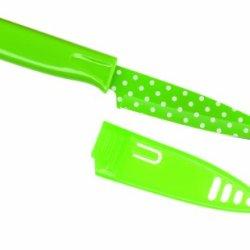 Kuhn Rikon Colori Bulk Pack Polka Dot Paring Knife, 4-Inch, Green