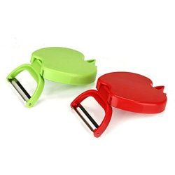 Foldable Fruit Paring Knife Green