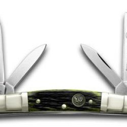 Hen & Rooster And Green Pick Bone Congress Pocket Knife Knives