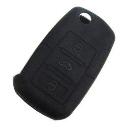 Ijdmtoy Soft Silicone Remote Smart Key Holder Fob For Volkswagen Jetta Gti Golf R32 Rabbit Eos Beetle Passat Cabrio